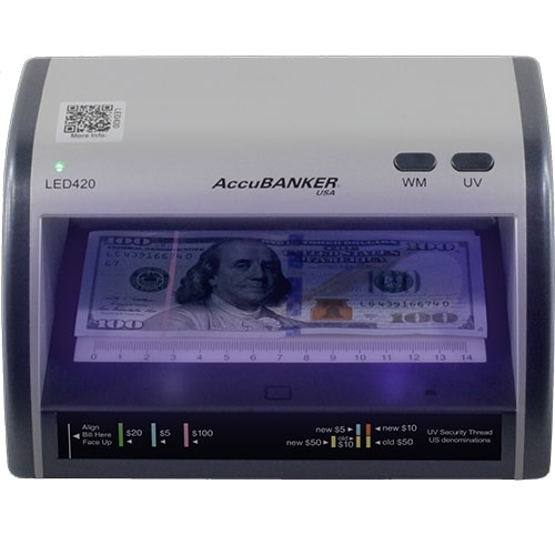 1-AccuBANKER LED420 tester bankovek